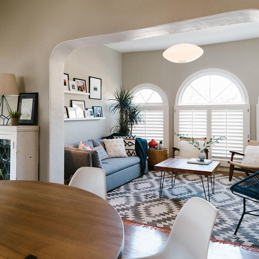 Bleu Leman Design dining and living room redo.