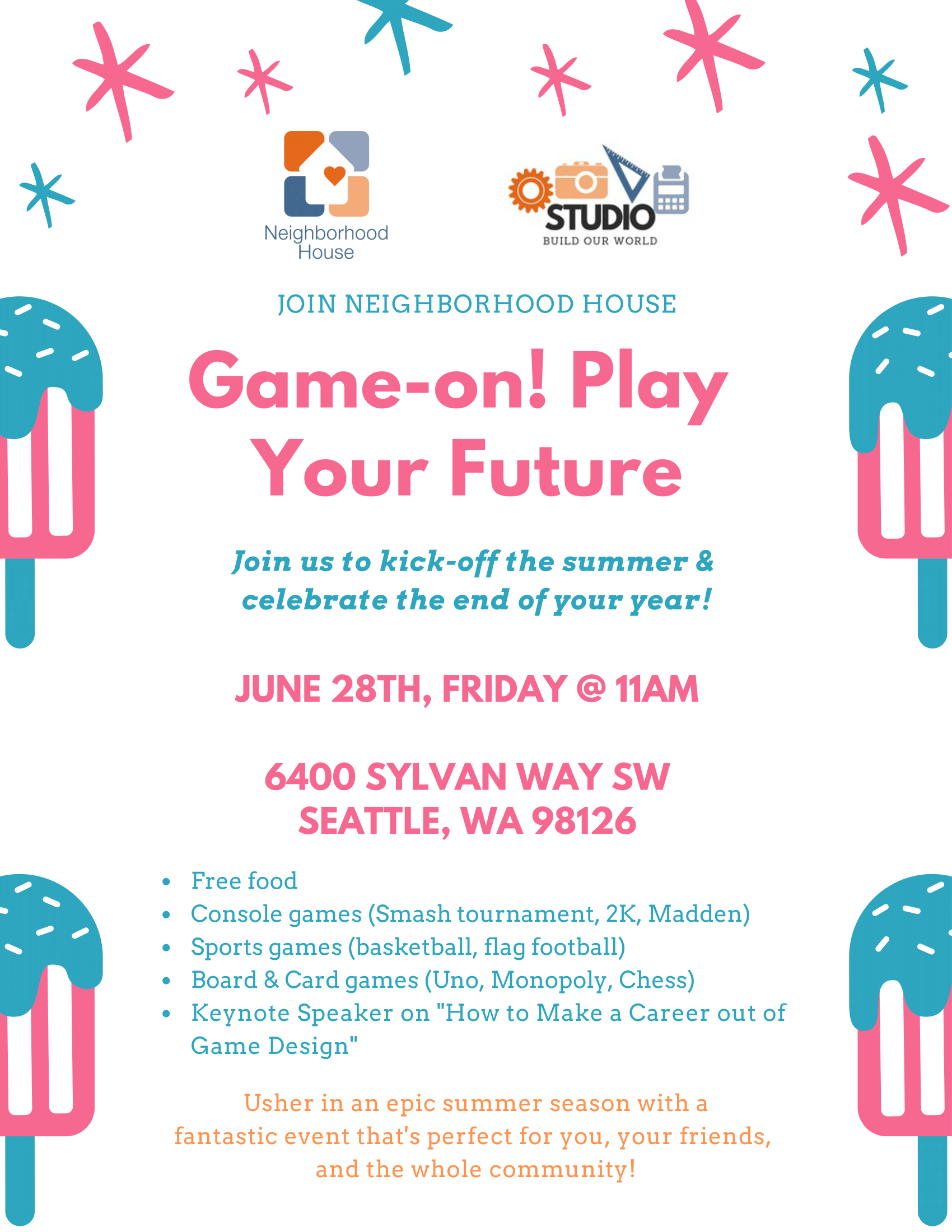 Game on Play Your Future Flyer 2019