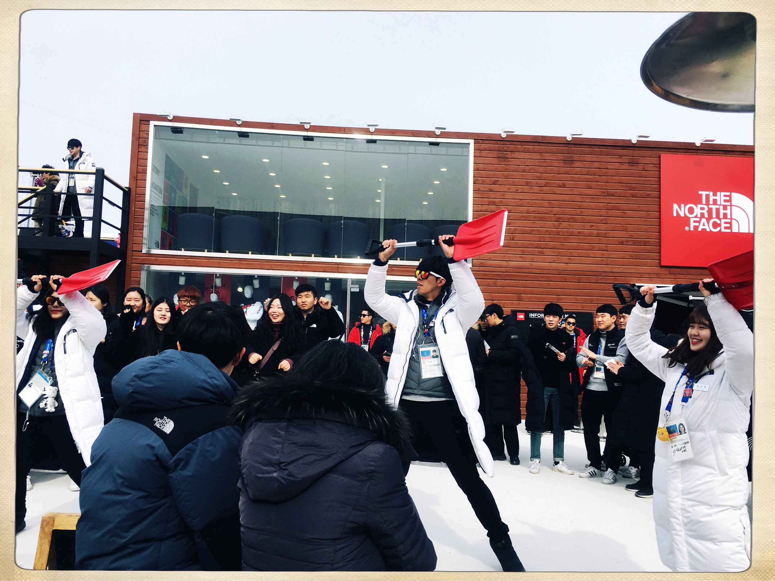The classic Korean shovel dance