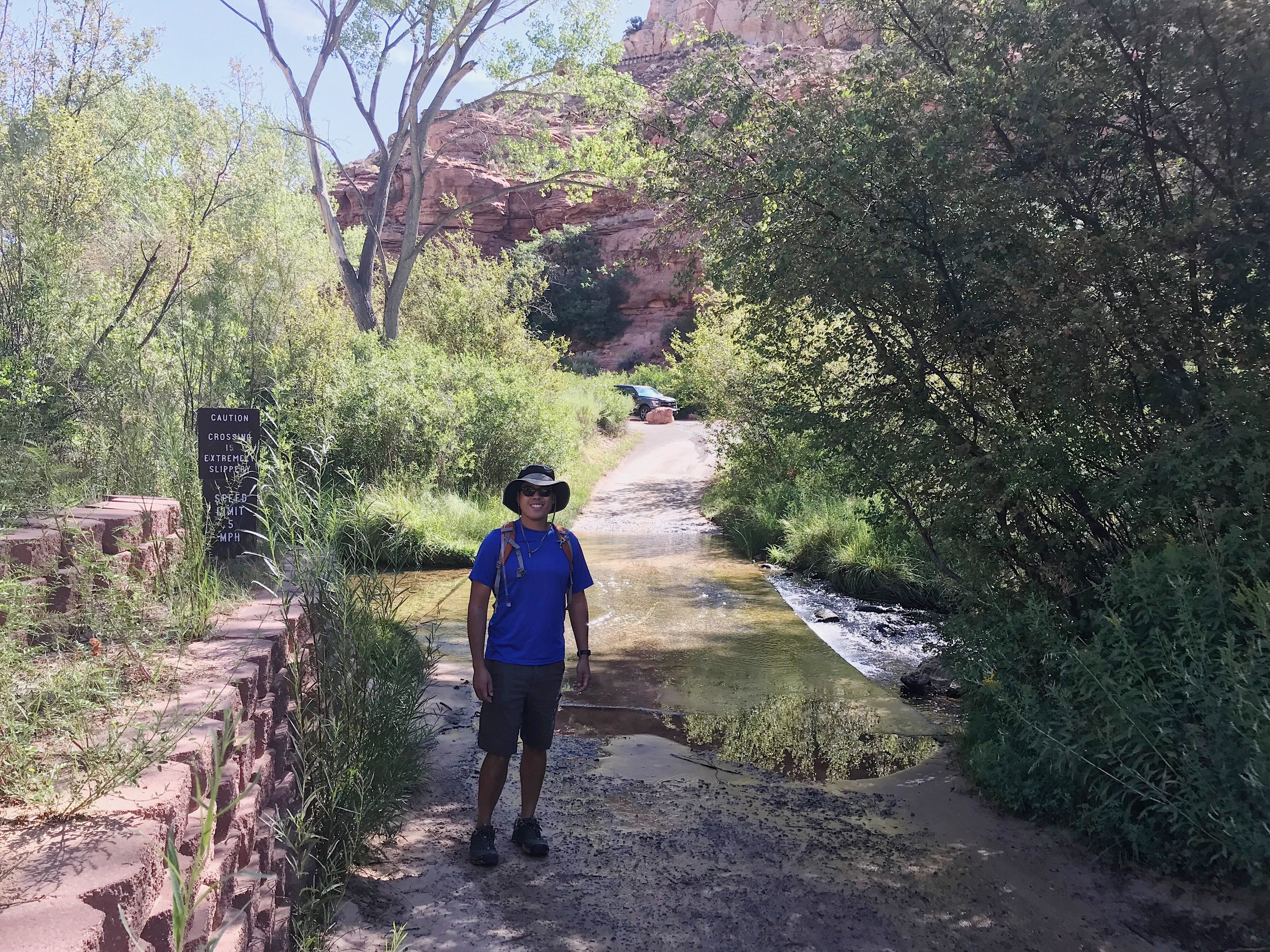 Walking to the trailhead