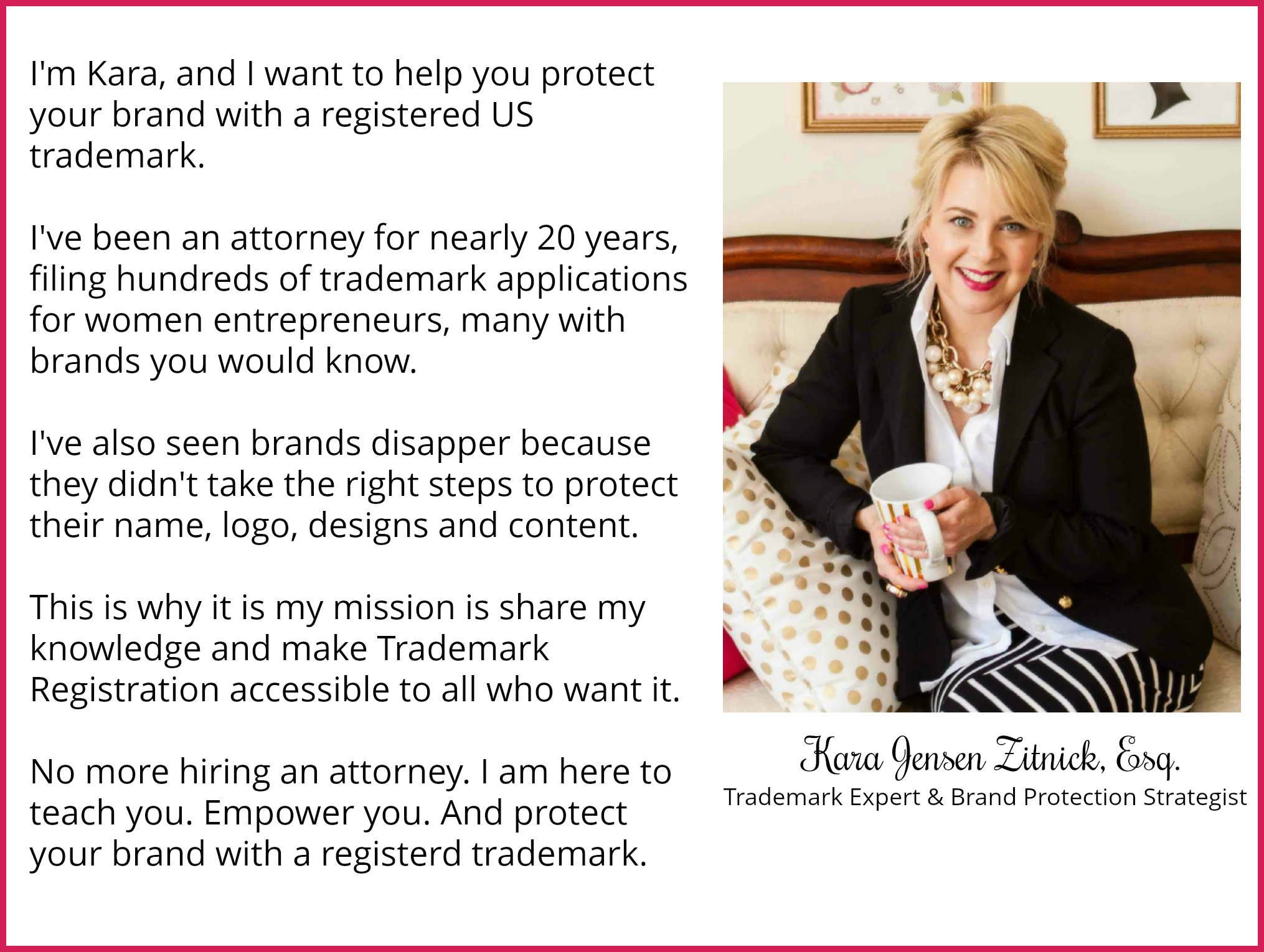 Trademarks Simplified About Kara Jensen Zitnick