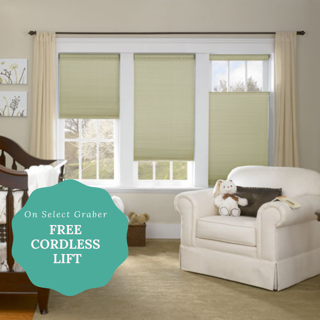 Book your in home blind consult today and take advantage of 40% off and free cordless lift upgrade on select styles!