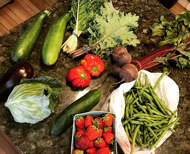 $20 went a long way at the farmers market today! #affordableproduce #eatingforless