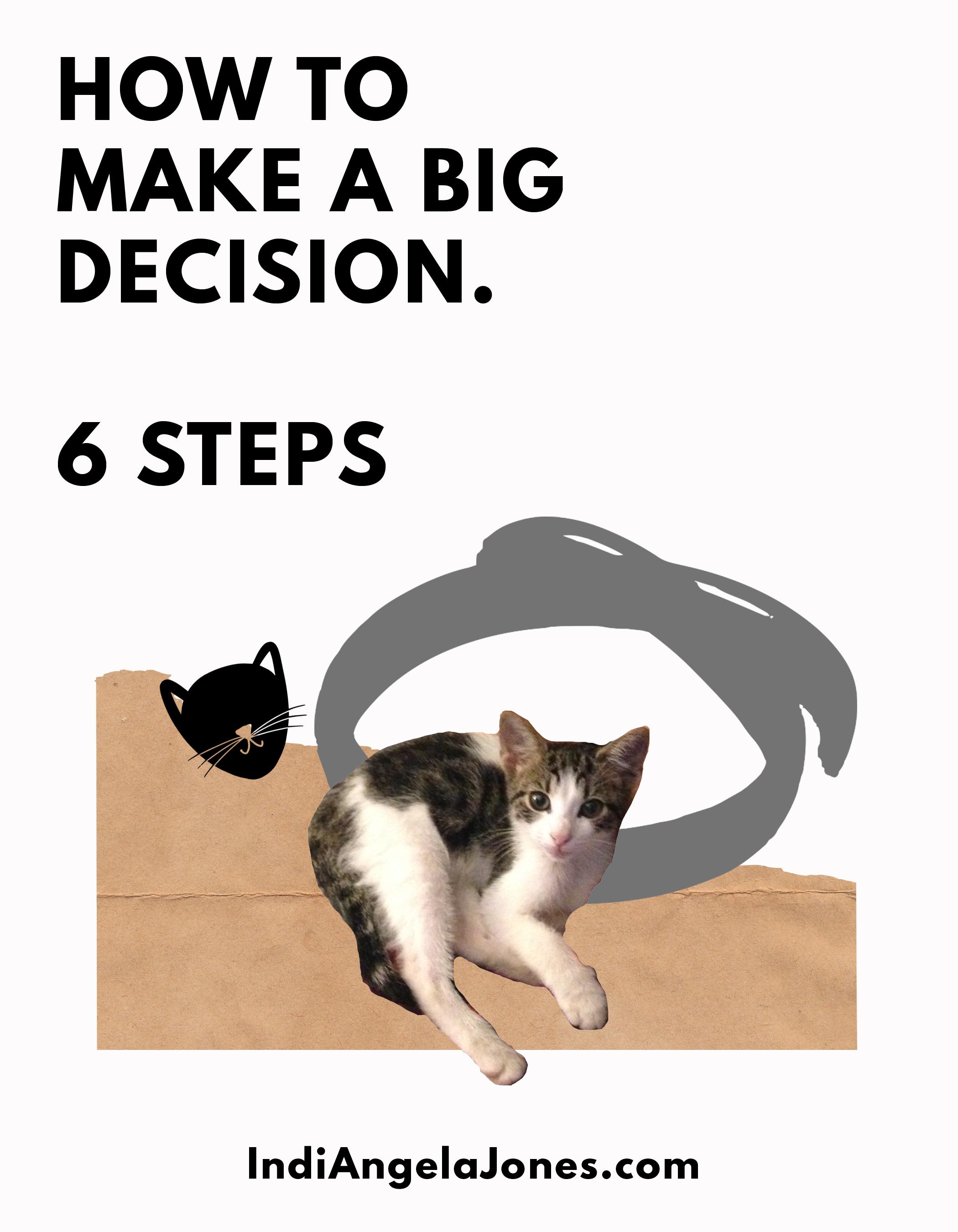 How to make a big decision.