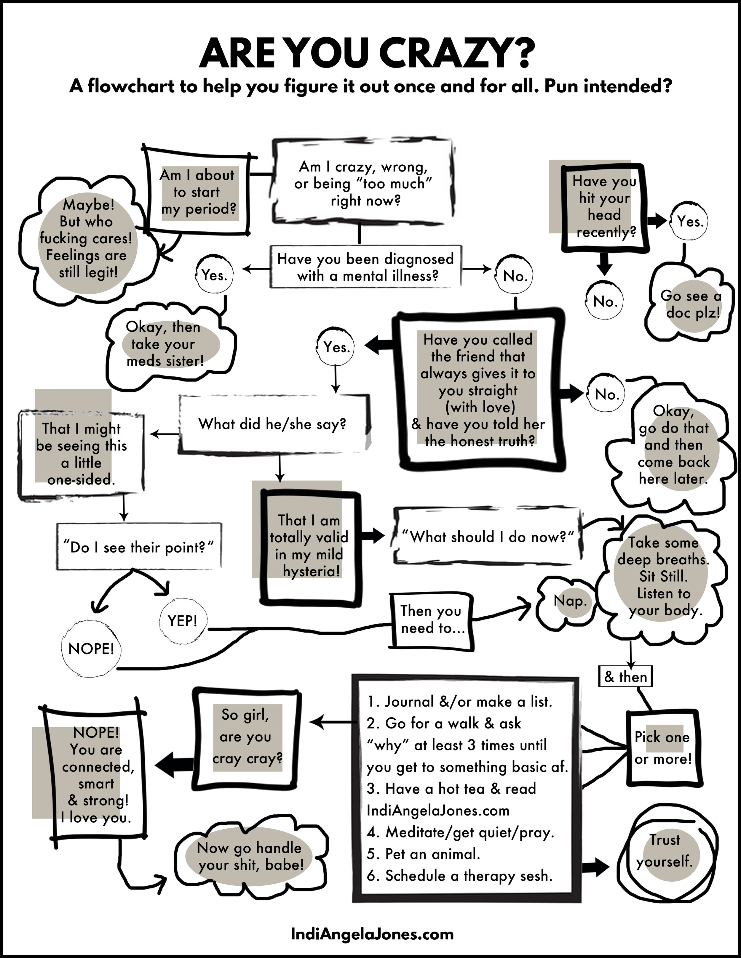 Are you crazy flowchart
