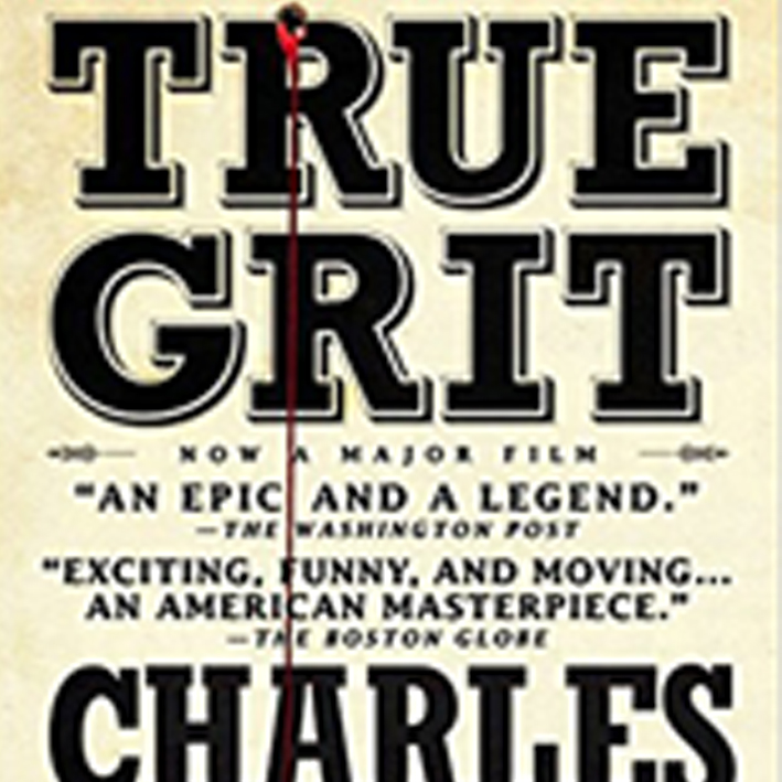 True Grit   A dear friend gave me  True Grit by Charles Portis  because I was living in arkansas at the time. (That's where the action takes place in the book.) But it was just what i needed at the time! the obsessive focus on one goal, the strong female lead and the refusal to be set aside. oof! yes please!