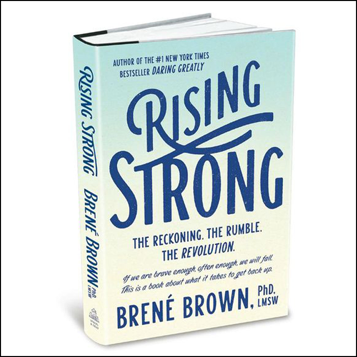 Rising Strong   Struggling with VULNERABILITY? Defensive? simmering in a shame stew? yeah girl. we all are.  Rising strong by Brené Brown  is the book that will give you the vocab and steps you need to notice this happening and actively face it. when you want to be a more authentic you, this is the book.