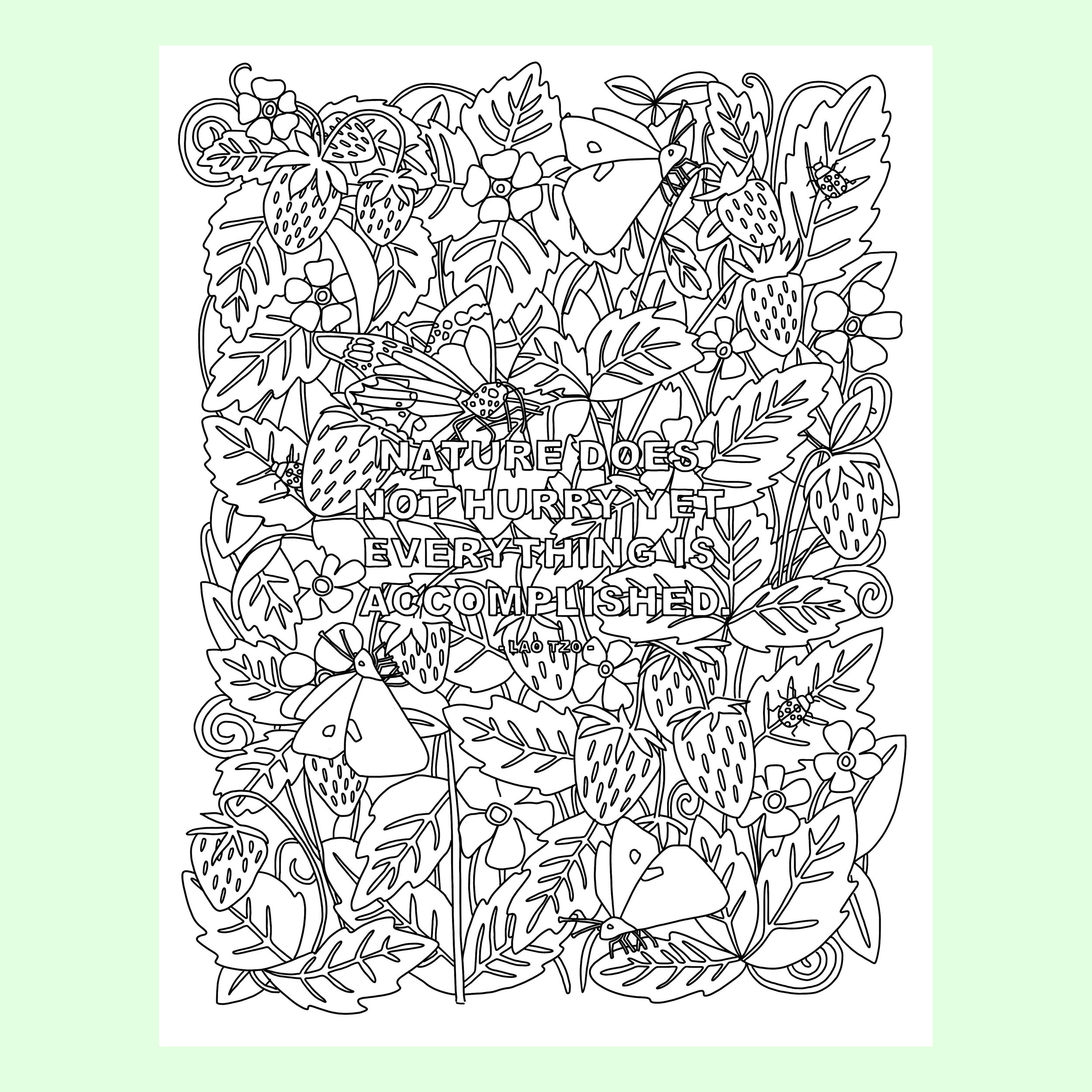 Nature Does Not Hurry - Coloring Page.jpg