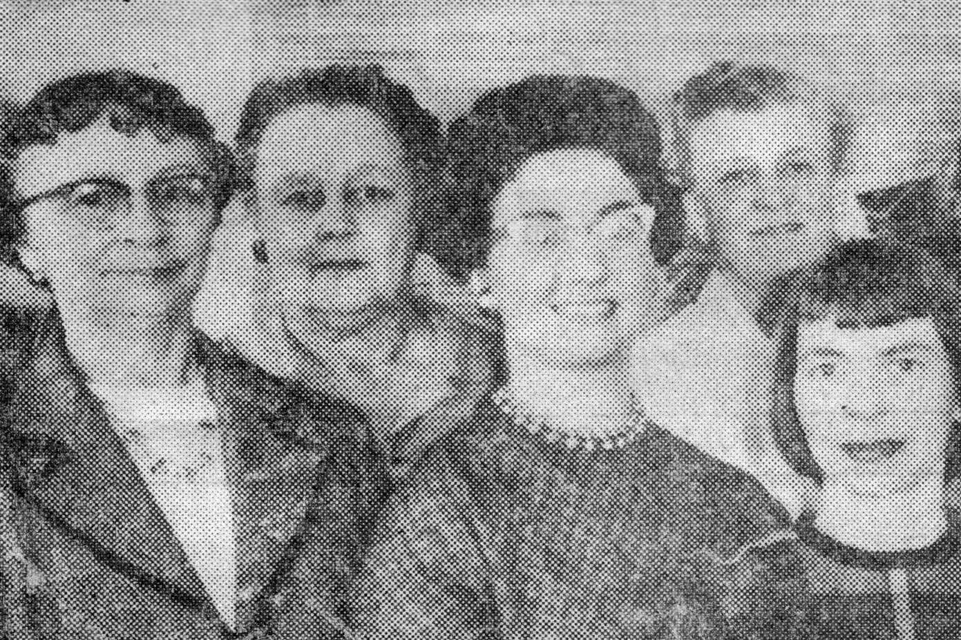 Four members of Bainbridge Arts & Crafts' Board of Trustees, elected in 1960, including the founding member, Pauli Dennis, pictured at far left.