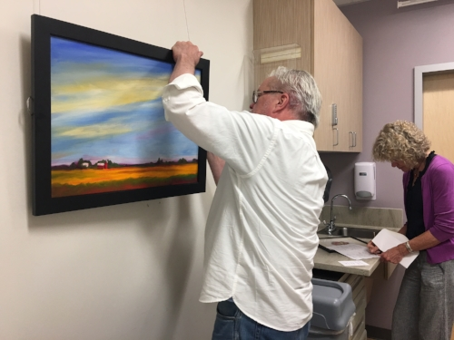 David and Sara hang a new collection of original works of art every six months at various medical facilities around Kitsap County, to benefit patients, staff and visitors.
