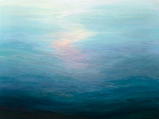 Carole Barrer,  Blue 5 . Acrylic on canvas. Image courtesy of Art & Soul.