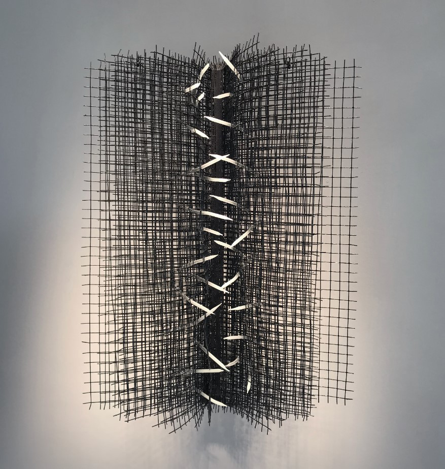 Amy Roberts,  Between . Metal and glass. Image courtesy of the artist.