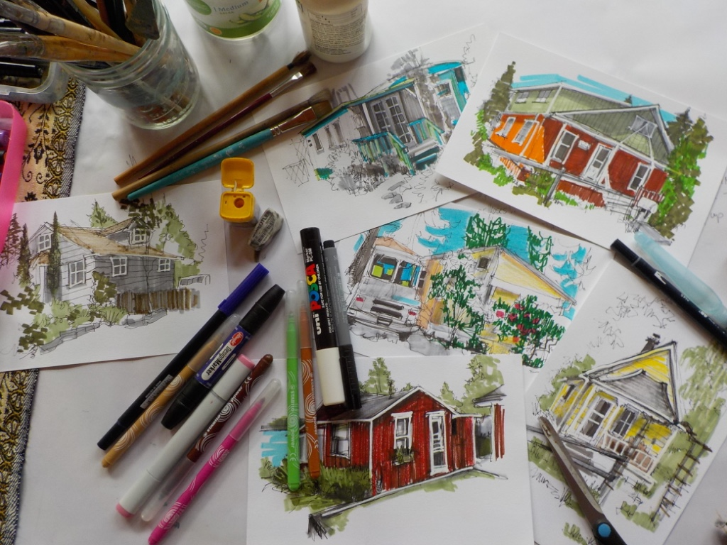 Sketches from around Bainbridge Island by Amy D'Apice. Image courtesy of the artist.