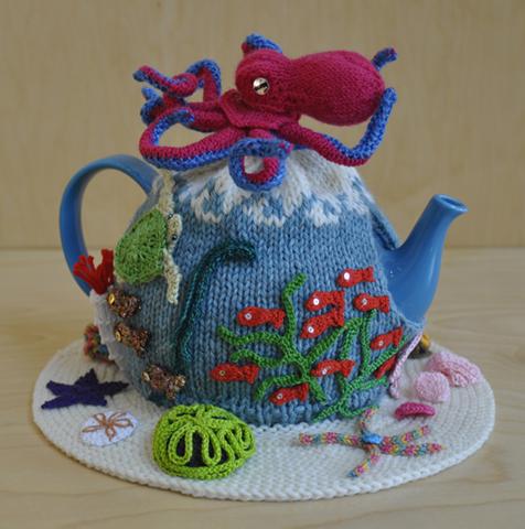 Jennifer Slack,  Octopus's Garden , knitting and crochet.