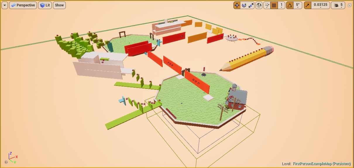 The Toybox - Dev Testing Environment (yes the pencil spins)