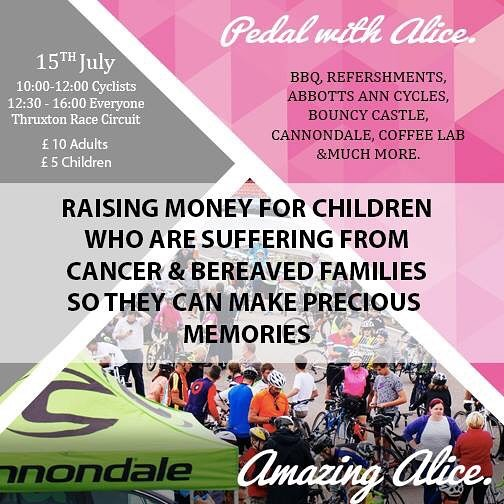 PEDAL WITH ALICE IS BACK....15TH JULY! IT'S GOING TO BE A BIG ONE