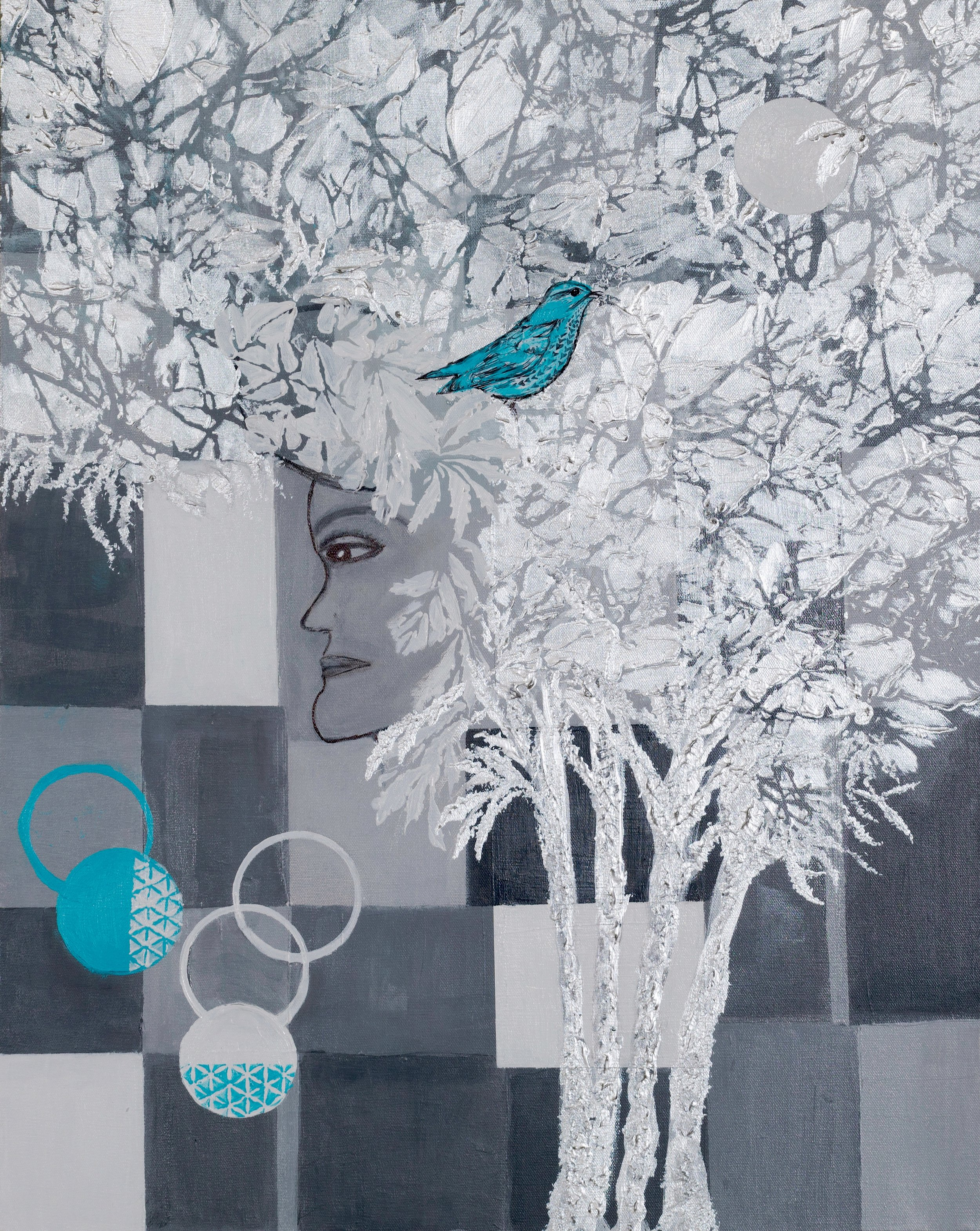Blue Bird in Silver Trees | *** SOLD ***