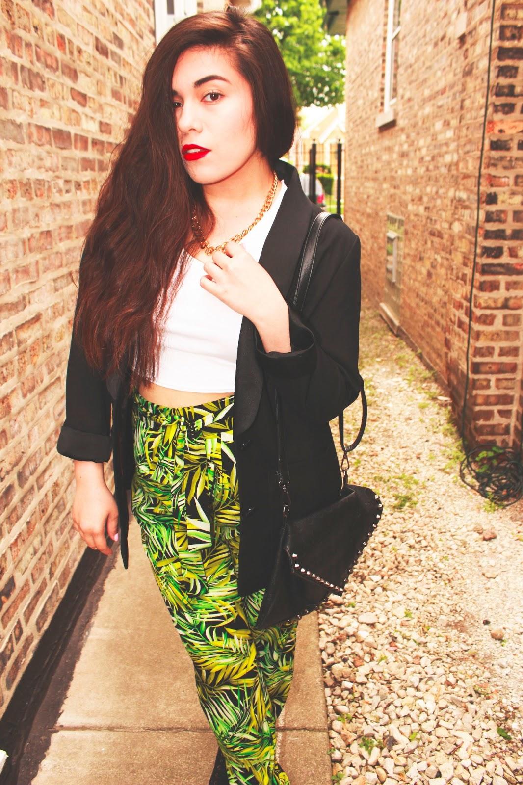 Palm leaf pants