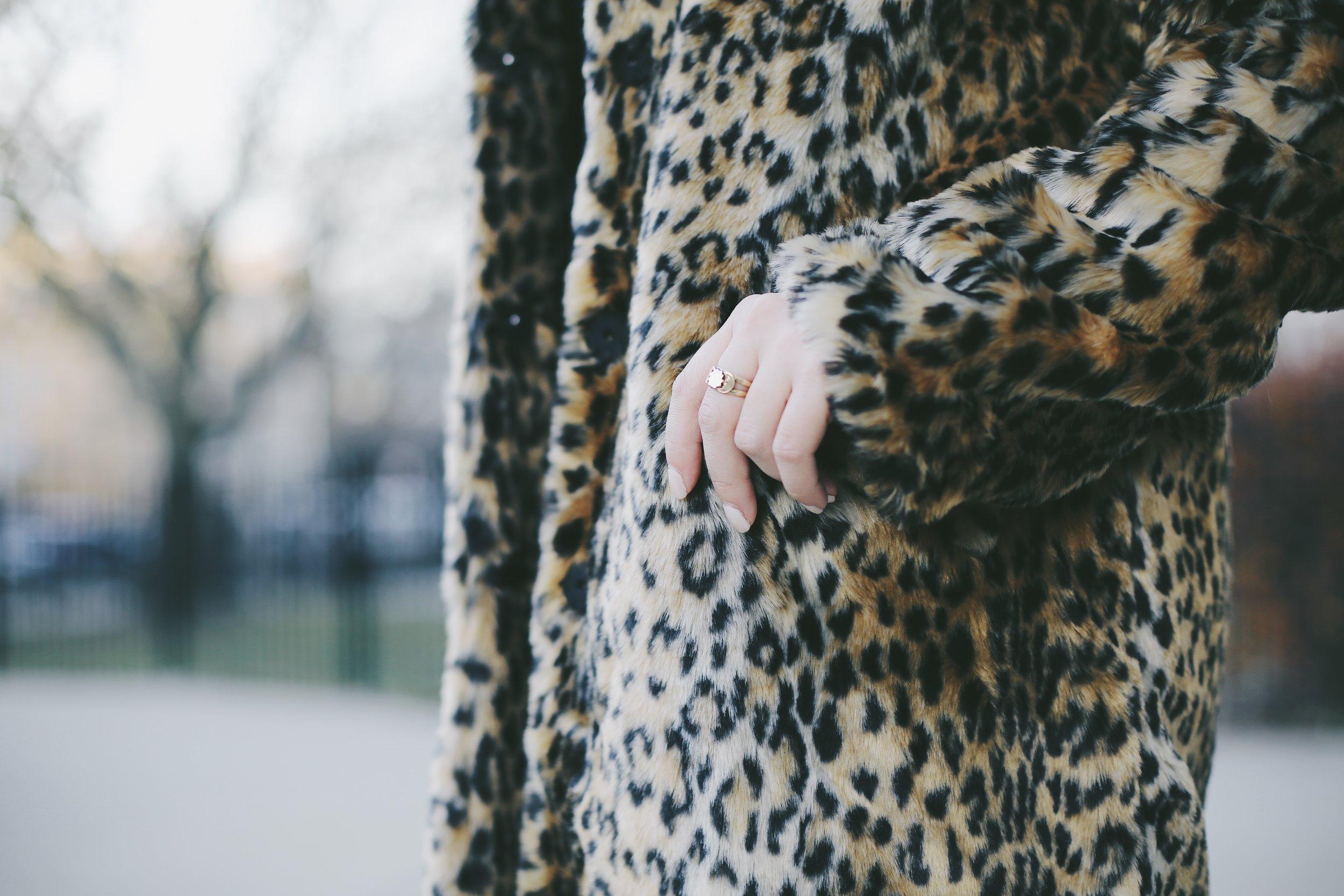 $40 Target leopard coat