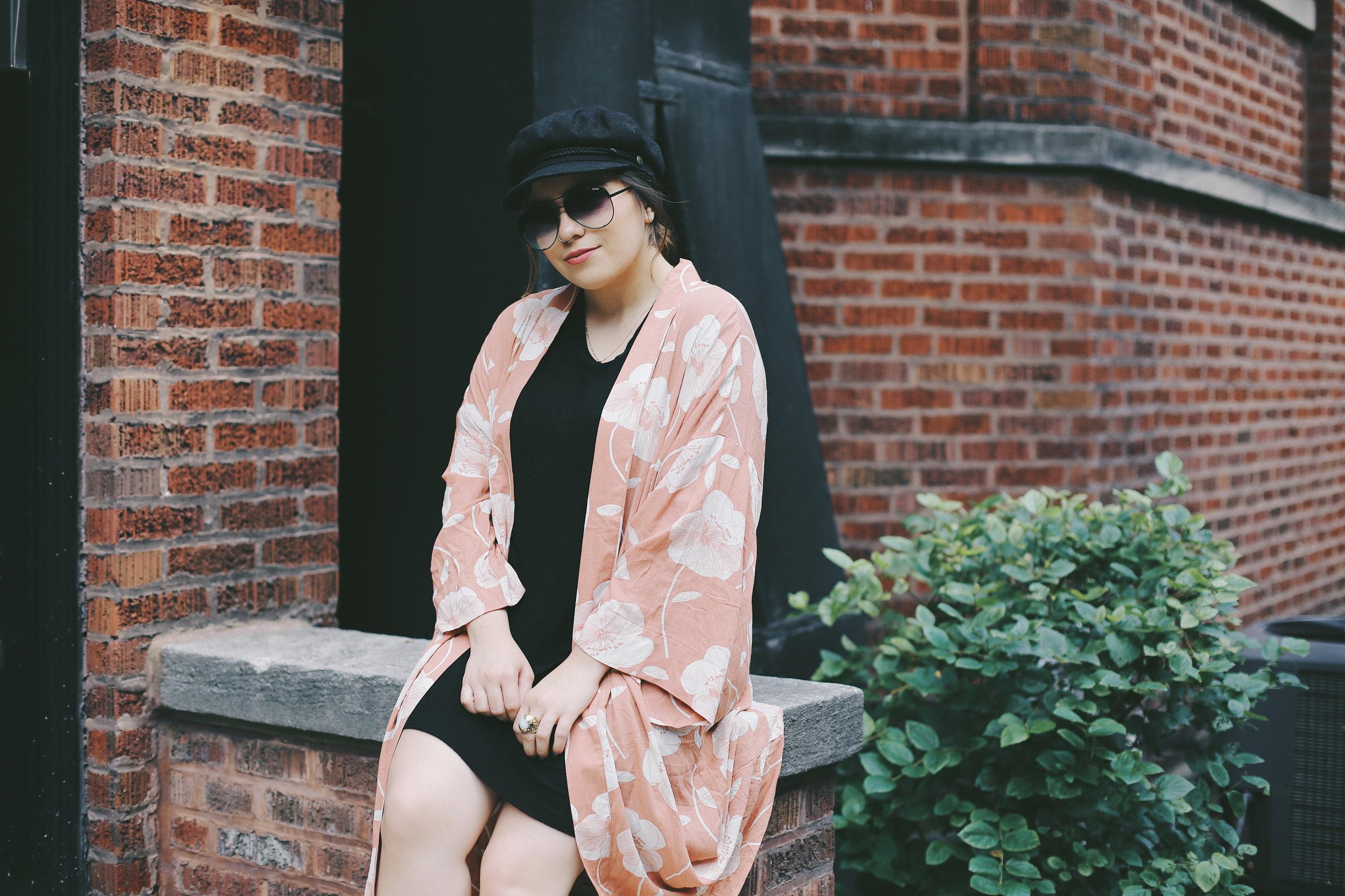 Peach kimono