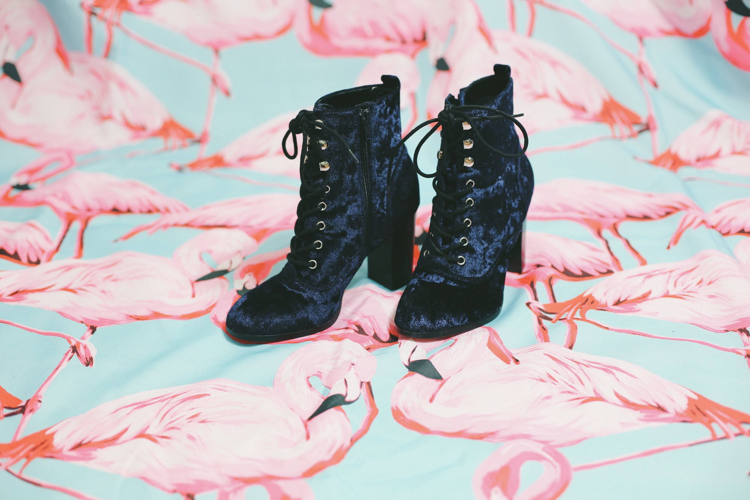 Report Velvet Lace-Up Boots