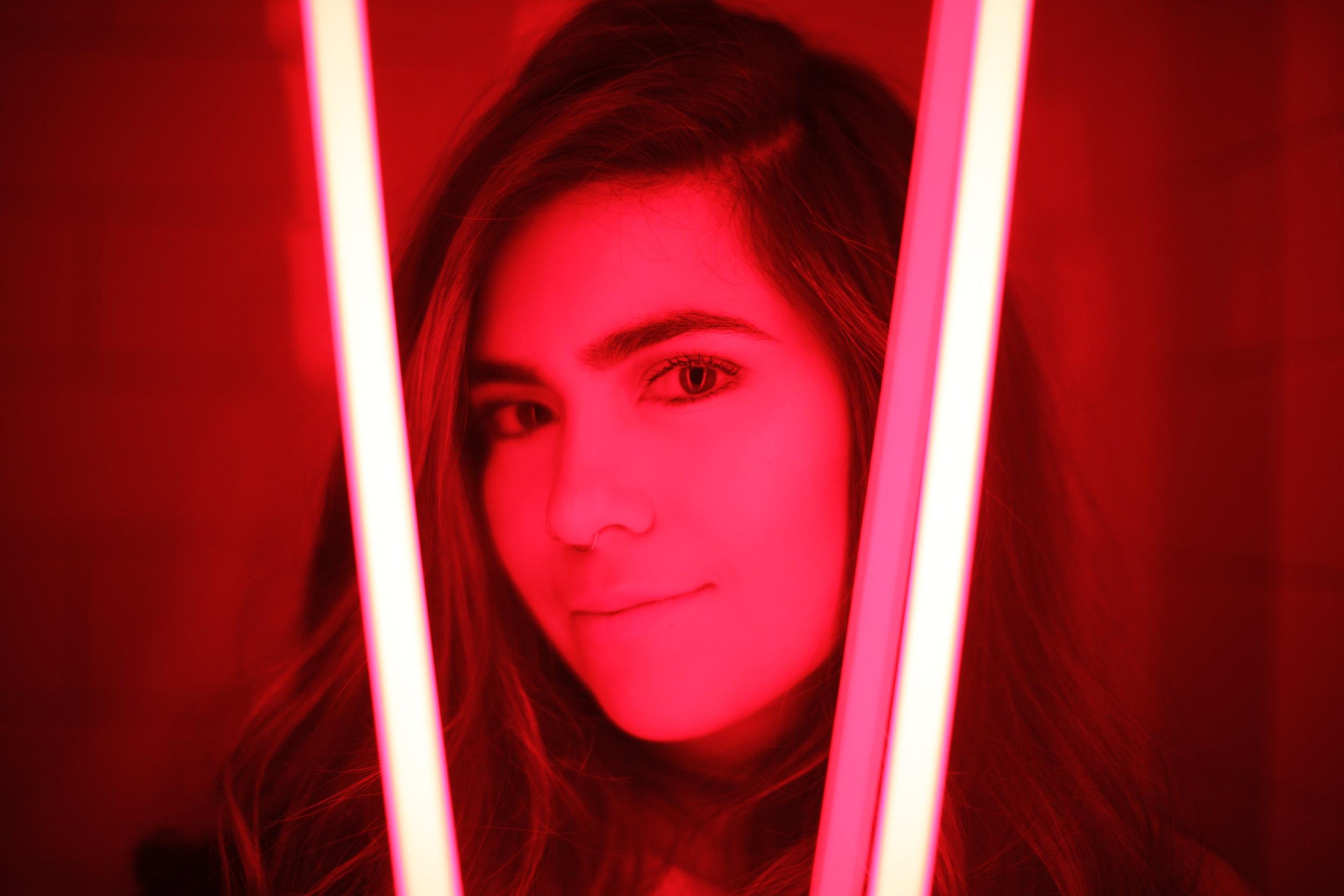 neon photoshoot
