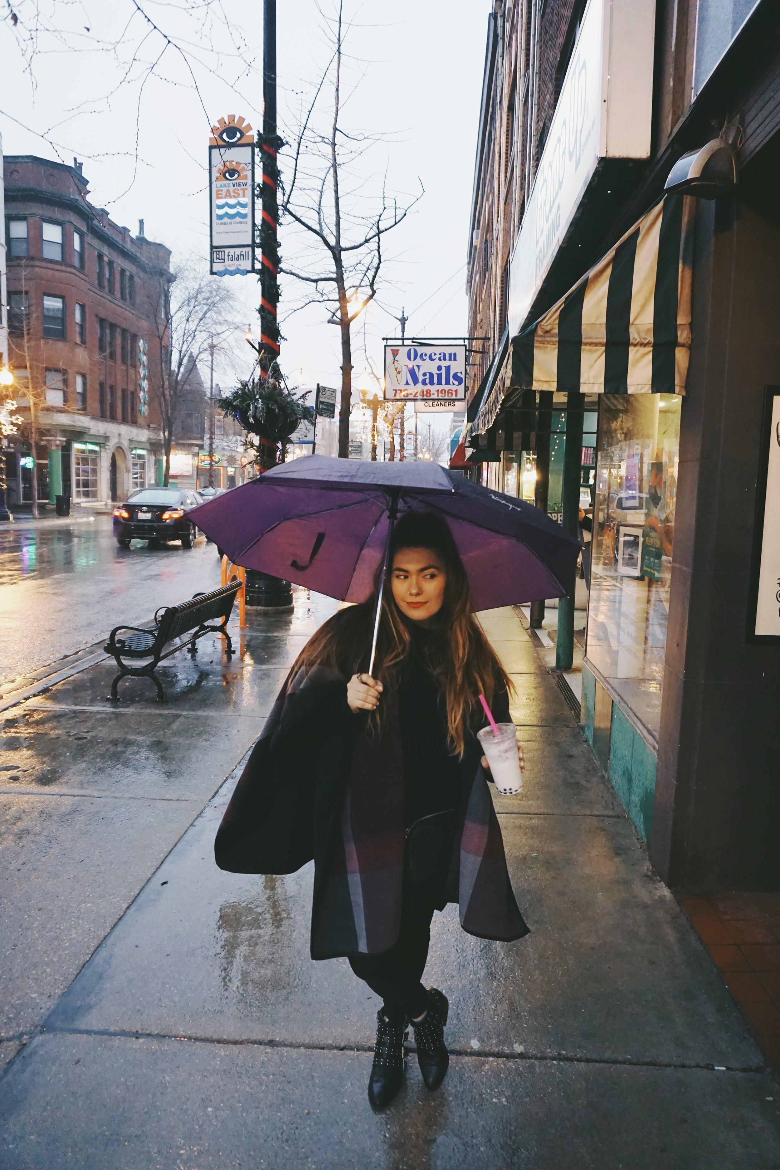 rainy chicago day