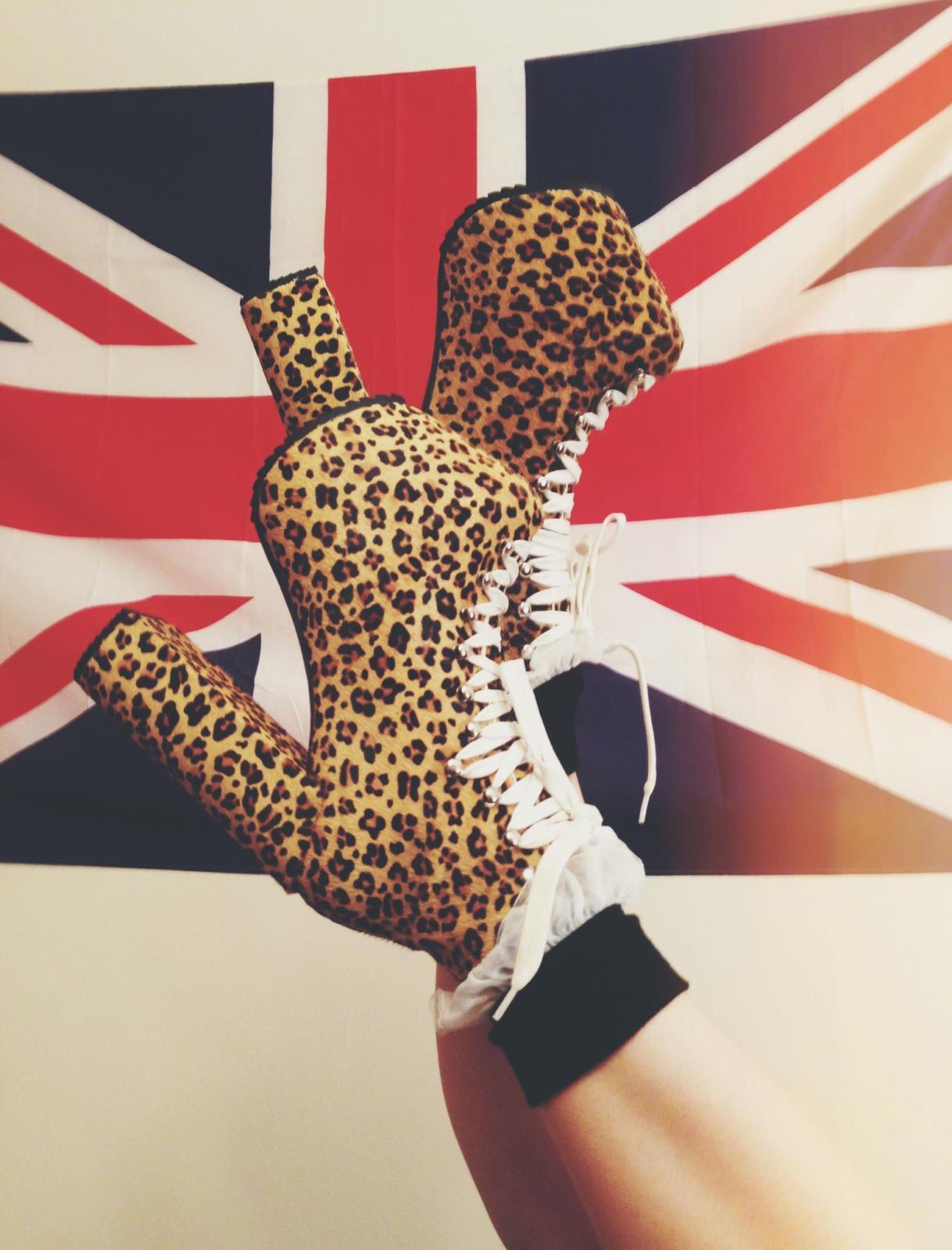 unif x nasty gal leopard hellbound high heels