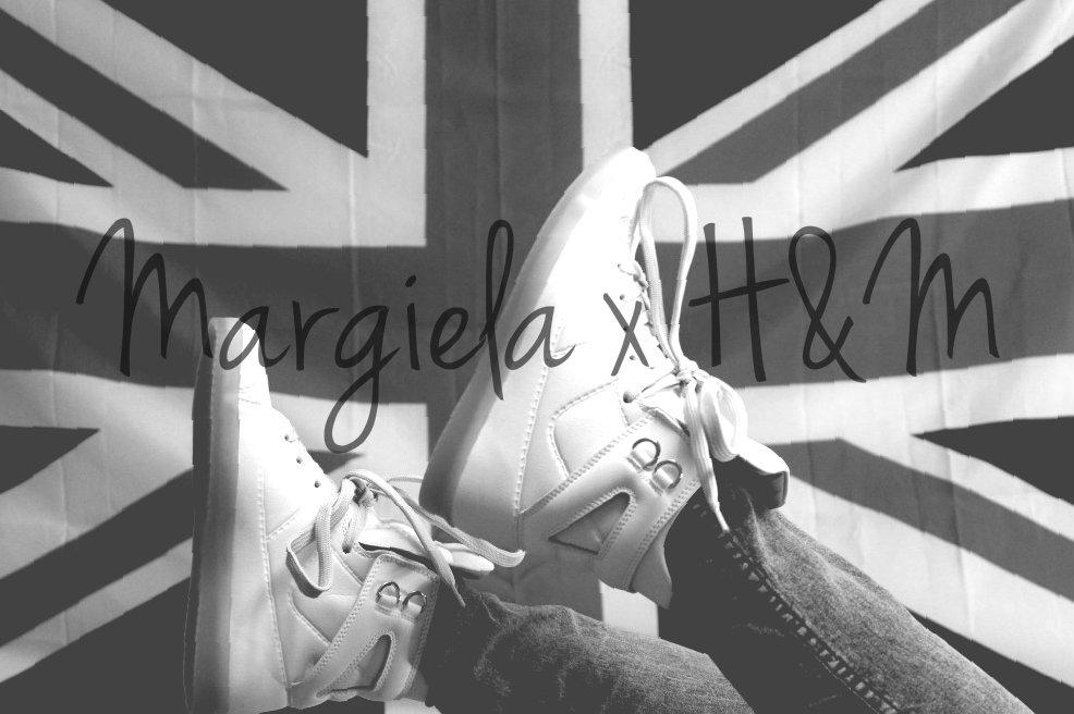 MAISON MARTIN MARGIELA x H&M WHITE SNEAKERS HIGH TOP SHOES