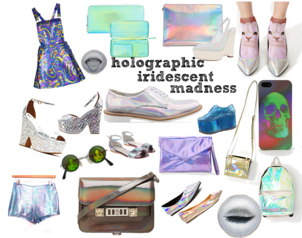 holographic clothing shoes and accessories