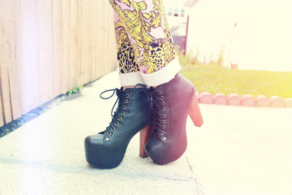 jeffrey campbell black leather lolita shoes