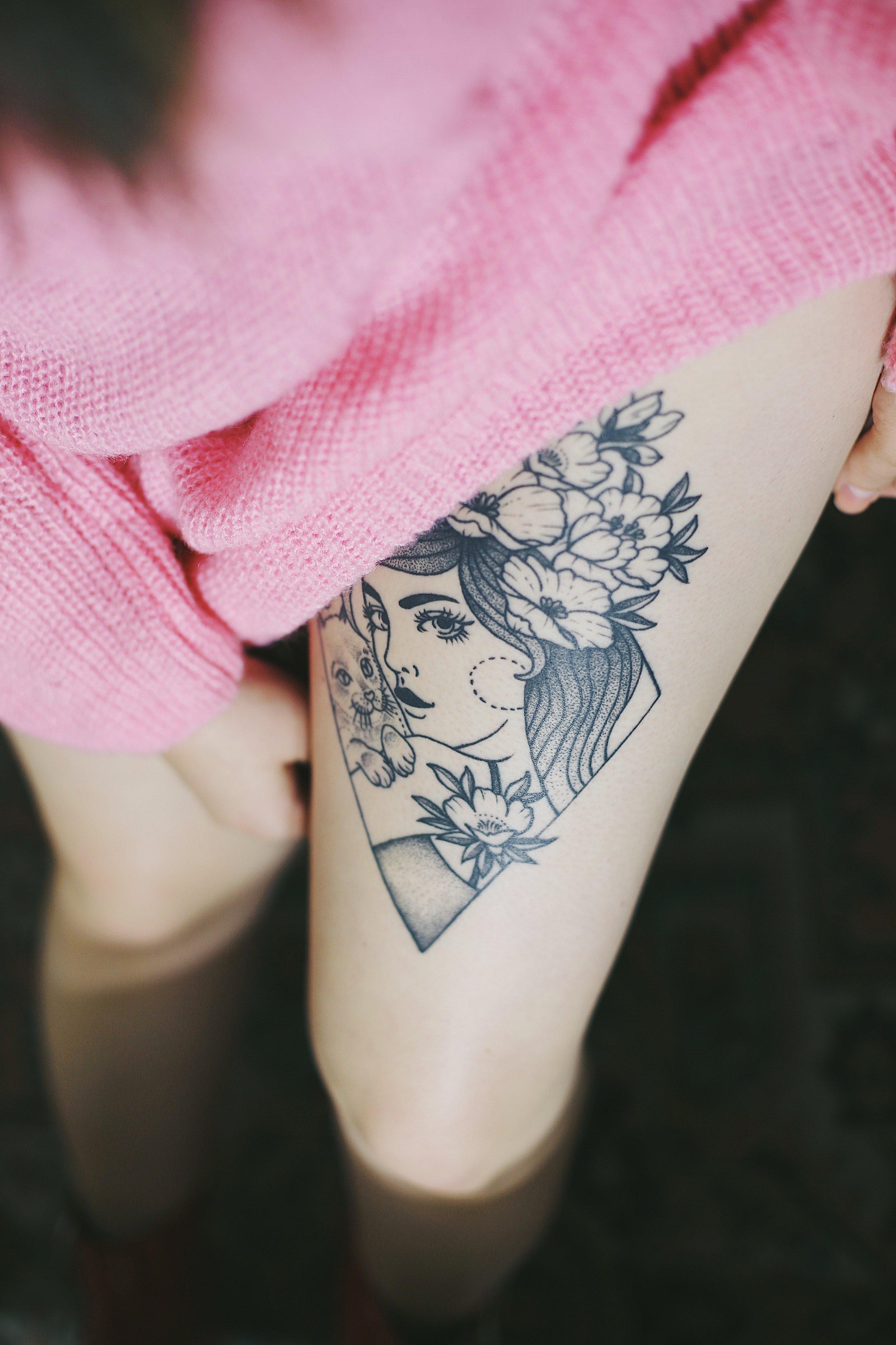 lilly anchor black oak tattoo