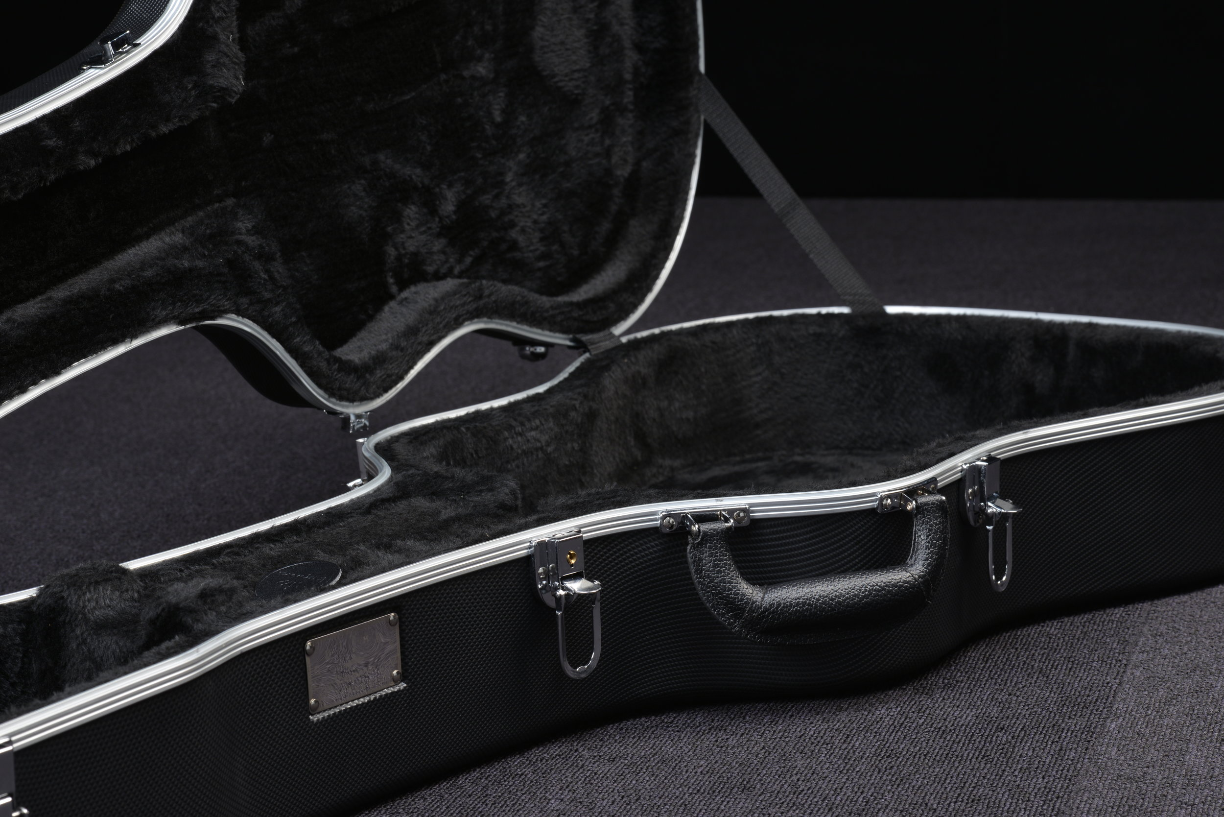 Deluxe hard shell ABS case is included with every D2-120 guitar.