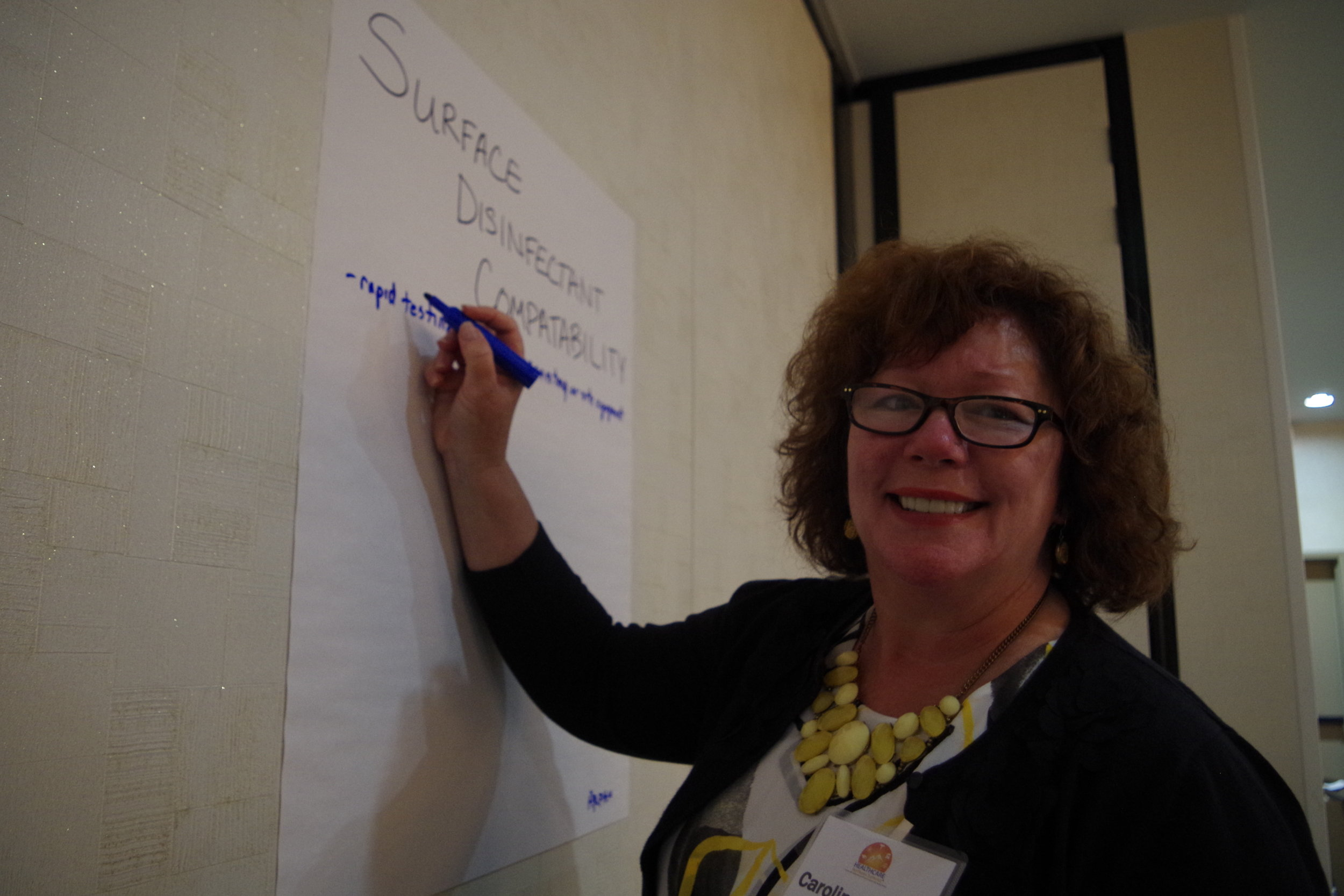 Caroline Etland during initiative group brainstorming