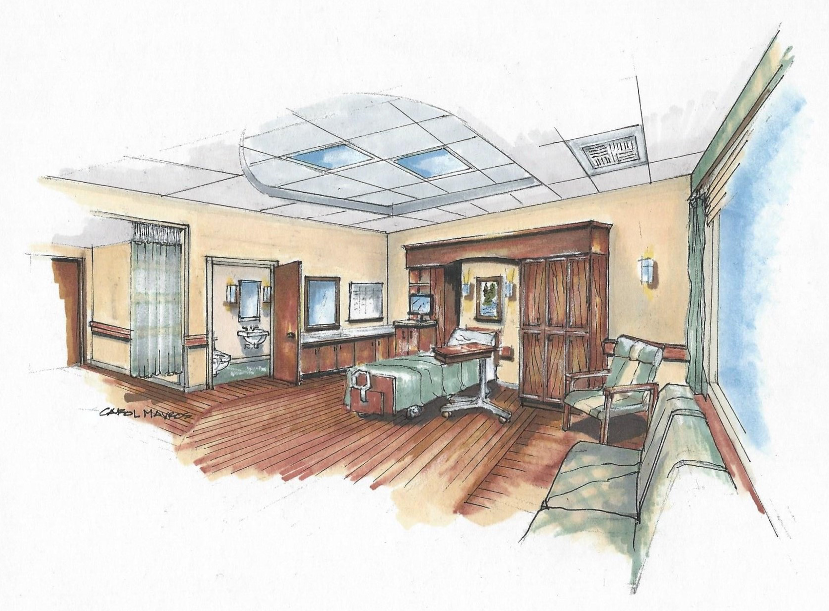 Incubator: Patient Room Rendering