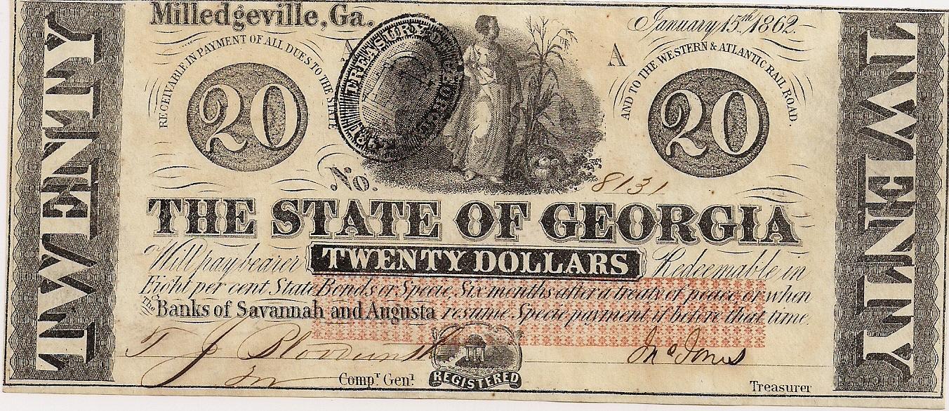 1862 $20 - Type 3
