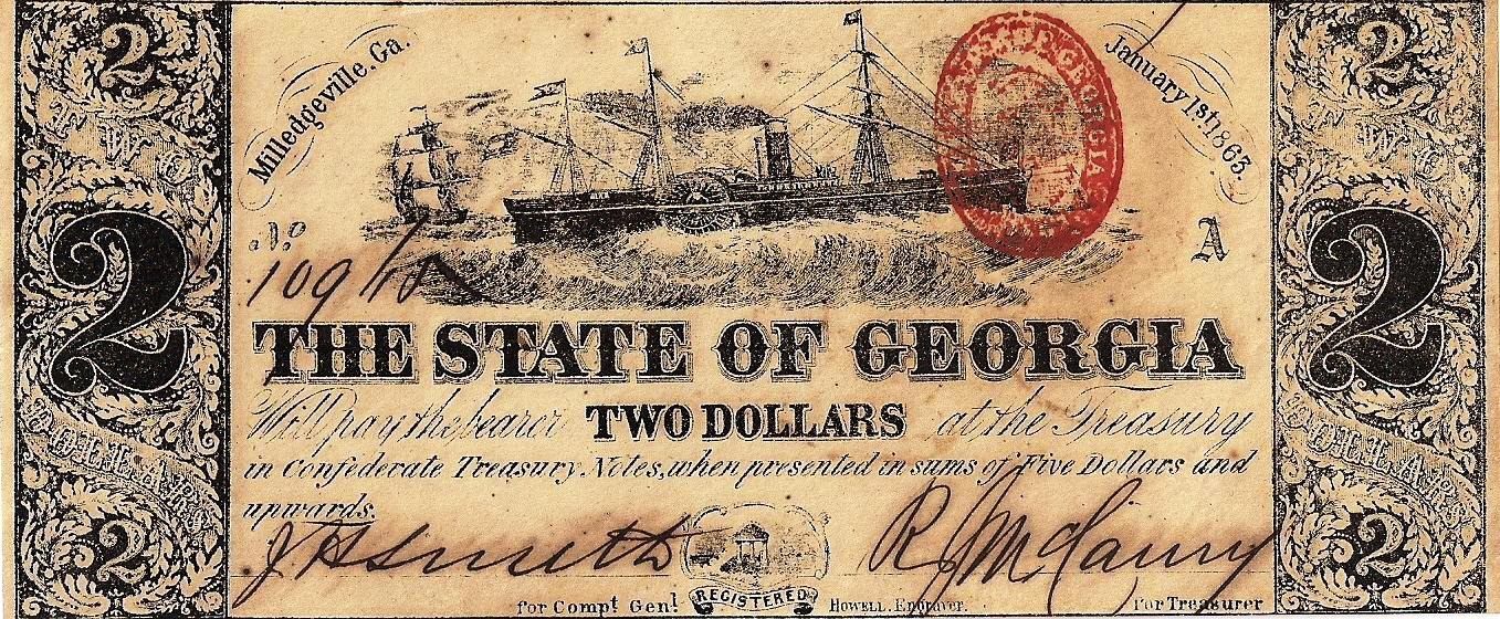 1863 $2 - Type 16