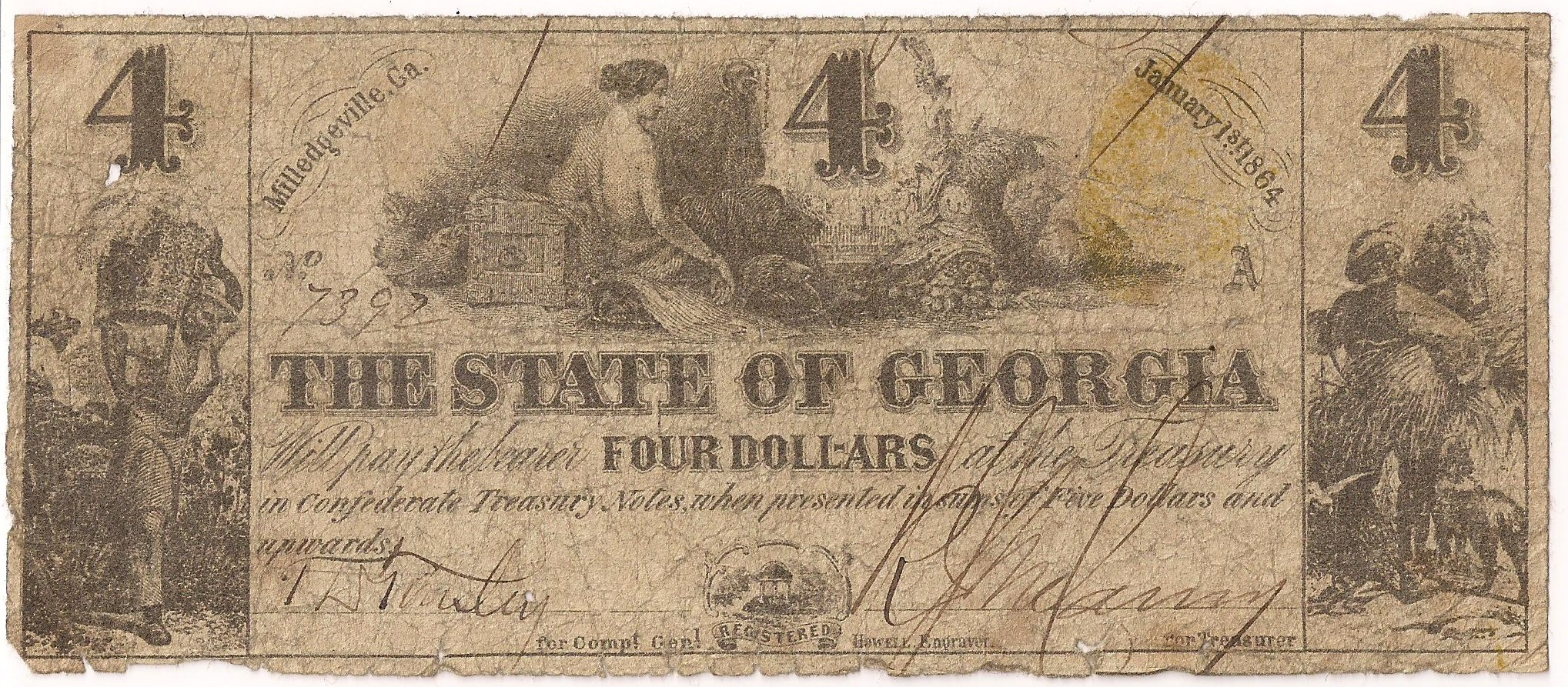 1864 $4 - Type 26