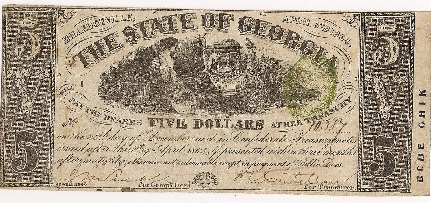 1864 $5 - Type 27