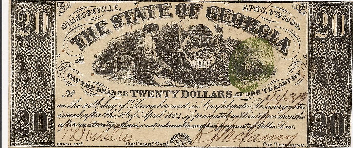 1864 $20 - Type 30