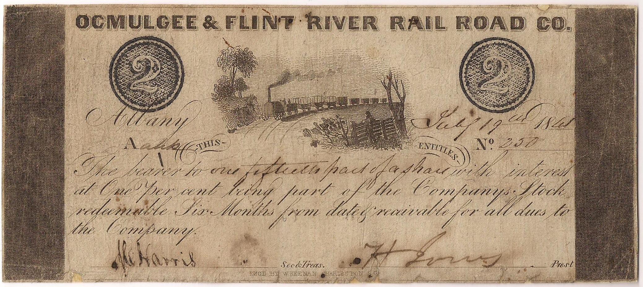 Ocmulgee & Flint River Rail Road Company -