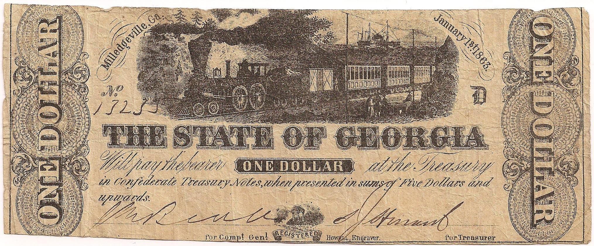 1863 $1 - Type 15