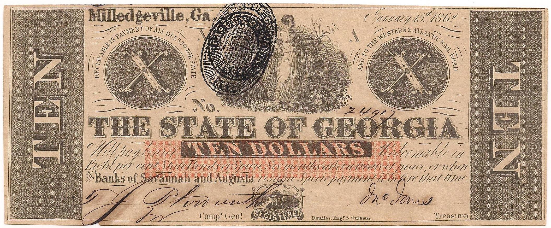 1862 $10 - Type 2