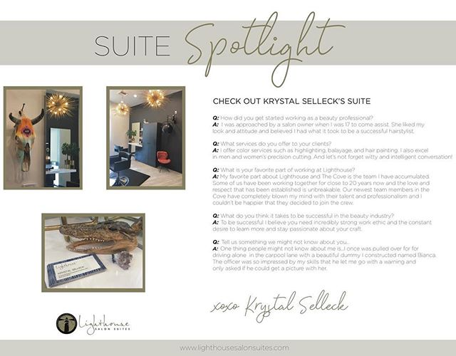 ✨SUITE SPOTLIGHT✨Take a peak at the this unique space and learn a little more about this talented and successful woman we get to call BOSS.