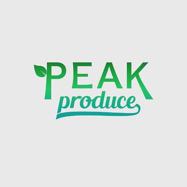 🌱™🌱 Propuesta a Peak Produce USA. . . #branding #type #graphicdesign #design #logolearn