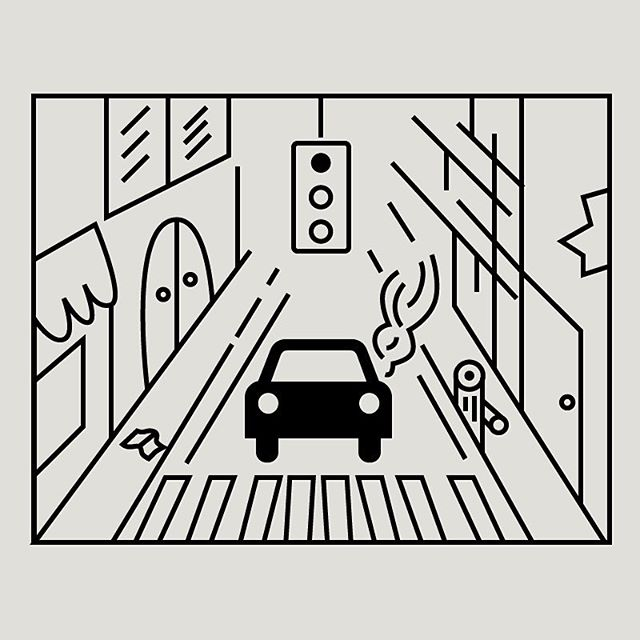🚘💨 Pieza de una serie de ilustraciones que formarán parte de un proyecto de urbanismo y movilidad en CDMX. • • • #Branding #Diseño #Pyra #PyraCo #Design #GraphicDesign #Logo #illustration #city  #Contemporary #Creative #icondesign #CreativeDirection #ArtDirection #visualinspiration #Brand #designinspiration #DiseñoMX #Studio #DesignAgency #VisualJournal #IdentityDesign #BrandingDesign #Visual