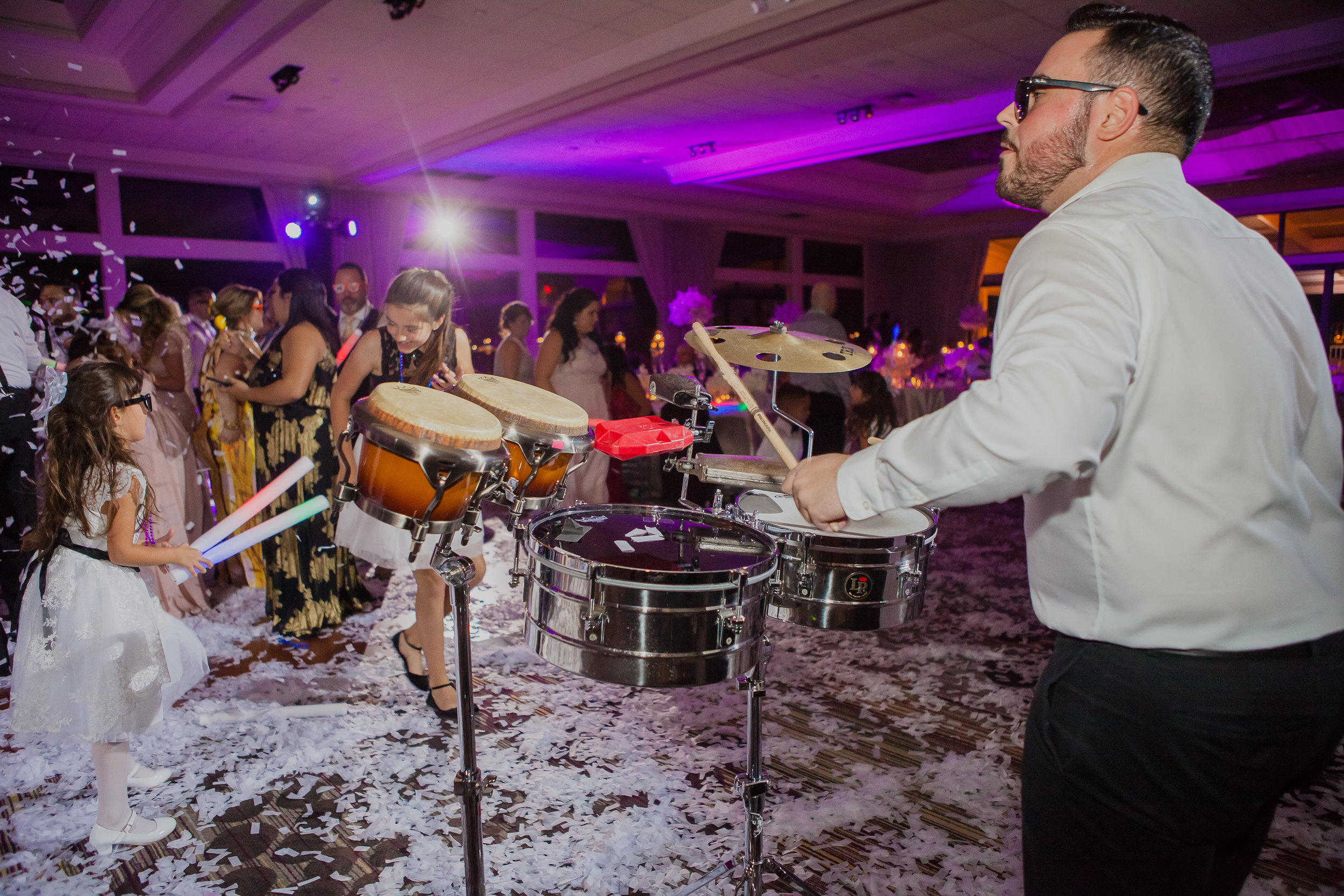 Entertainment & Live Musicians - Having performed at over 1000 Weddings Event Factor also provides some of the best Musicians and Entertainers in South Florida. From a String Duo or Trio for your Ceremony, to a Spanish Guitarists, Saxophone Player, or Electric Violinists for your Cocktail Hour, to super energetic Percussionist to play alongside our Top Tier DJS during the dance portion of your Reception. Event Factors Entertainment department will pair you with the right entertainment for your special event.