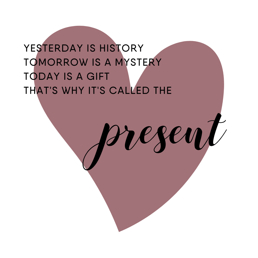 YESTERDAY IS HISTORY TOMORROW IS A MYSTERY TODAY IS A GIFT THAT'S WHY IT'S CALLED THIE.png