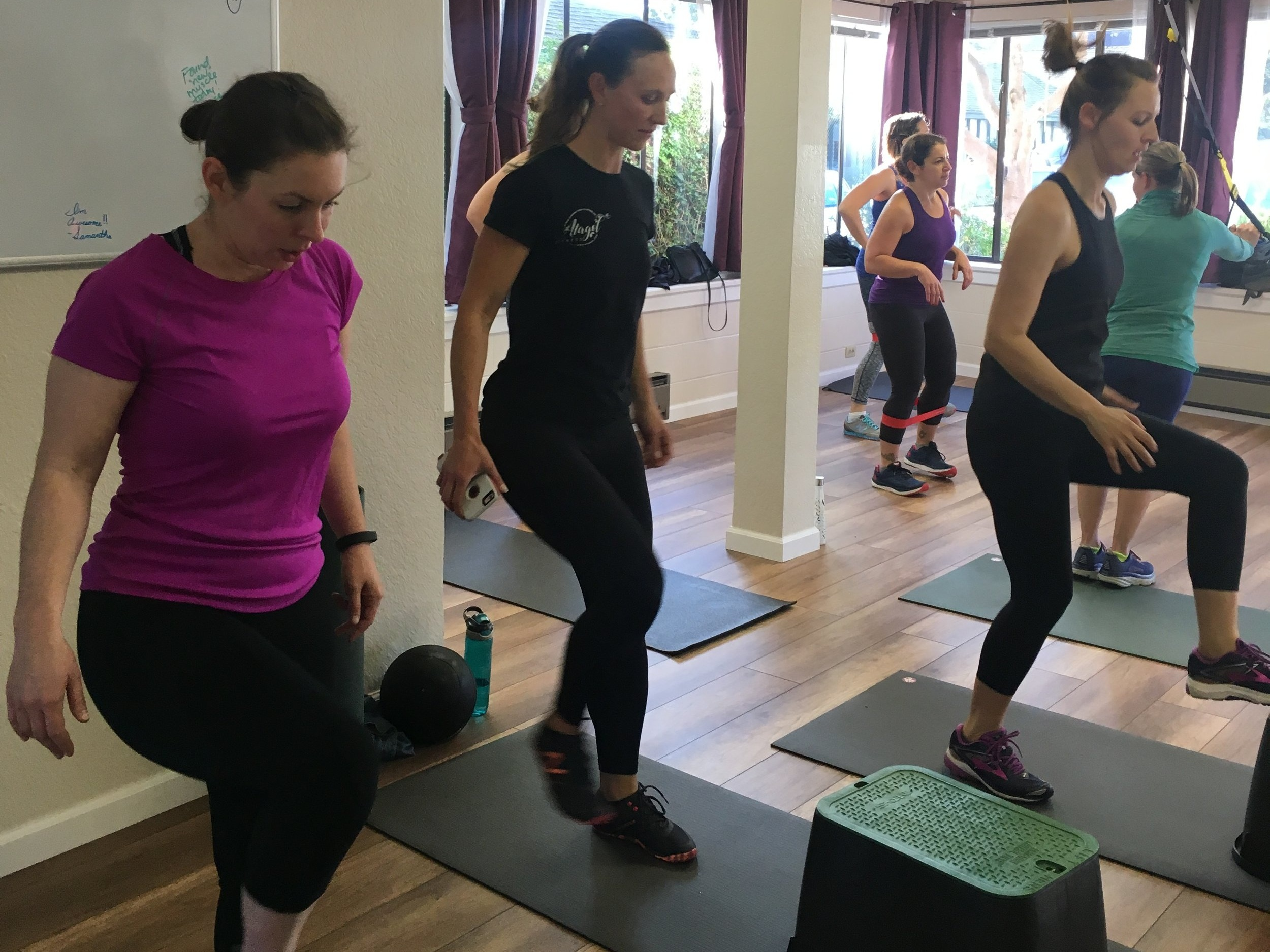 Small group coaching - Push your personal limits with the support of your team! Every session is uniquely designed to build strength in all planes of movement while improving your muscular endurance, stability and flexibility.