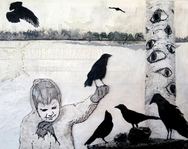 "As the Crow Flies 2---16""X20"""